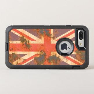Vintage Rusted United Kingdom Flag OtterBox Defender iPhone 7 Plus Case