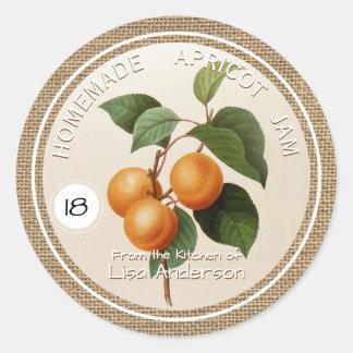 Vintage Rustic Apricot Jam personalized R Label