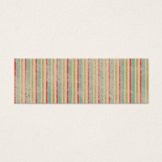 Vintage Rustic Beach Summer Stripes Mini Business Card