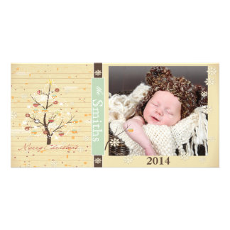 Vintage, Rustic Classic festive holiday photo card
