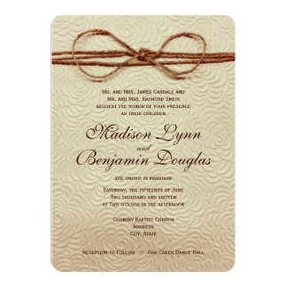 "Vintage Rustic Country Wedding Invitations 5"" X 7"" Invitation Card"