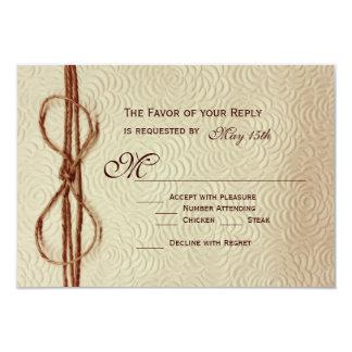 Vintage Rustic Cream Flowers Wedding RSVP Cards