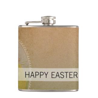 Vintage Rustic Easter Chicken Hip Flask
