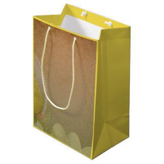 Vintage Rustic Easter Chicken Medium Gift Bag