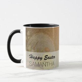 Vintage Rustic Easter Chicken Mug