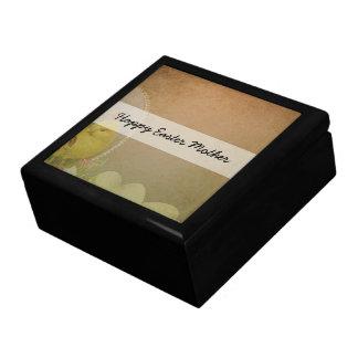 Vintage Rustic Easter Chicken Trinket Boxes