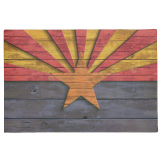 Vintage Rustic Flag of Arizona Doormat