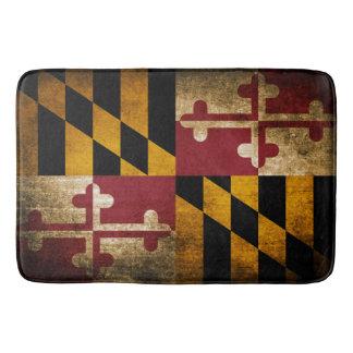 Vintage Rustic Flag of Maryland Bath Mat