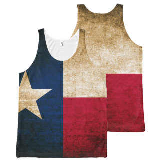 Vintage Rustic Flag of Texas All-Over-Print Tank Top