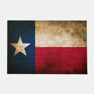 Vintage Rustic Flag of Texas Doormat