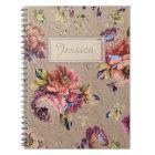 Vintage Rustic Floral Notebook