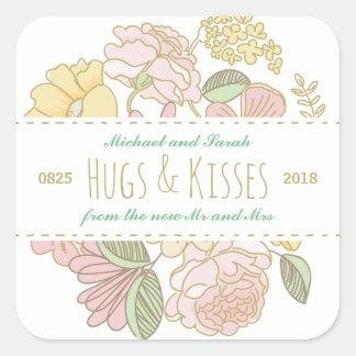 Vintage Rustic Floral Spring Wedding Favor Sticker