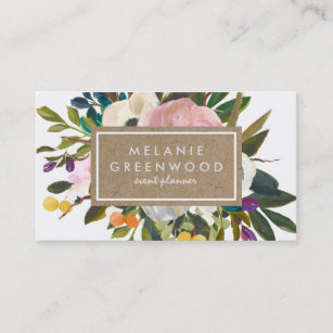 Slate business cards profile cards zazzle ca vintage rustic florals business card reheart Image collections