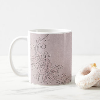 Vintage Rustic Glamour Elegant Rose Shabby Chic Coffee Mug