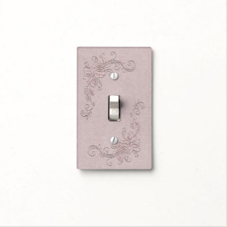 Vintage Rustic Glamour Elegant Rose Shabby Chic Light Switch Cover