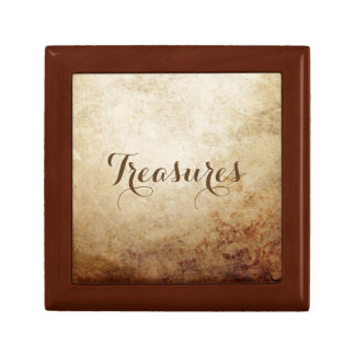 Vintage Rustic Paper Texture Rust Brown Gift Boxes