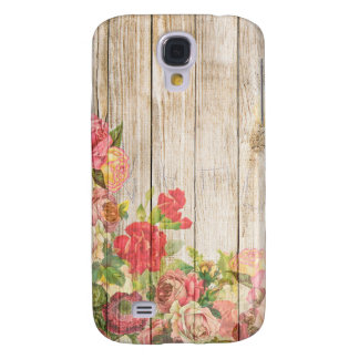 Vintage Rustic Romantic Roses Wood