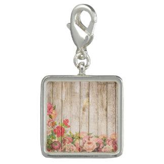 Vintage Rustic Romantic Roses Wood Charm