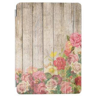 Vintage Rustic Romantic Roses Wood iPad Air Cover
