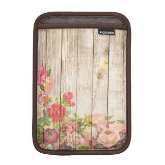 Vintage Rustic Romantic Roses Wood iPad Mini Sleeve