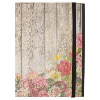 "Vintage Rustic Romantic Roses Wood iPad Pro 12.9"" Case"