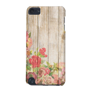 Vintage Rustic Romantic Roses Wood iPod Touch (5th Generation) Cases