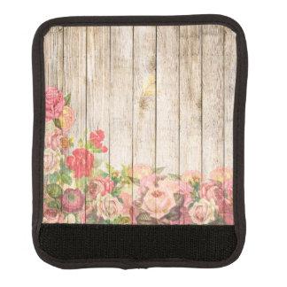 Vintage Rustic Romantic Roses Wood Luggage Handle Wrap