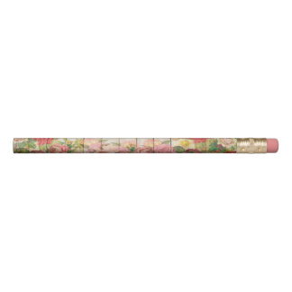 Vintage Rustic Romantic Roses Wood Pencil
