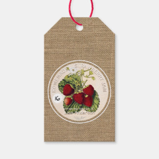 Vintage Rustic Strawberry Jam Corporate gift tag Pack Of Gift Tags