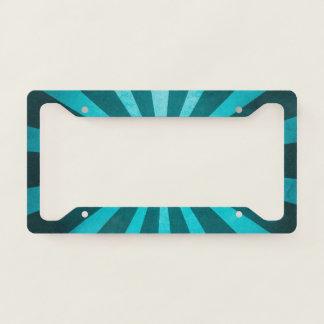 Vintage Rustic Turquoise Blue Starburst Pattern License Plate Frame