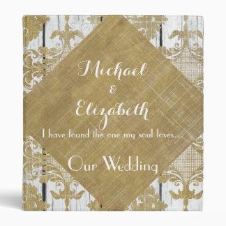 Vintage Rustic Wedding Planner & Album Bible Verse 3 Ring Binder