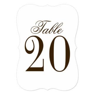 Vintage Rustic Wedding Table Number Card