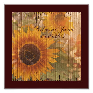 vintage rustic yellow sunflowers country wedding photograph