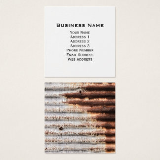 Vintage Rusty Metal Square Business Card
