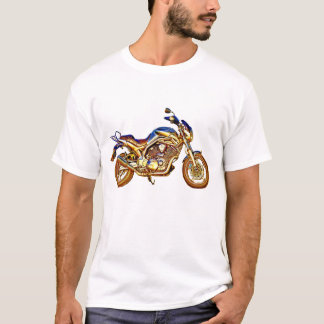 Vintage Rusty Motorcycle Drawing T-Shirt