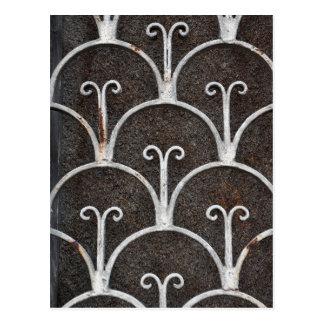 vintage rusty pattern postcard