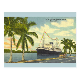 Vintage S.S. Florida Havana Bound Ship Postcard