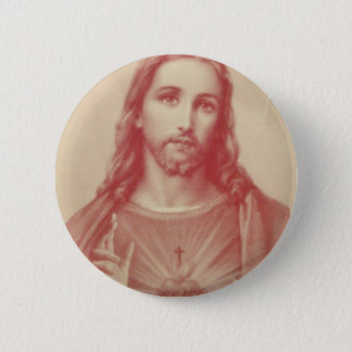 Vintage Sacred Heart of Jesus 2 Inch Round Button