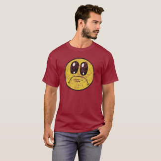 Vintage Sad Smiley Face Cartoon Shirt