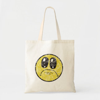 Vintage Sad Smiley Face Cartoon tote bag