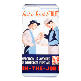 Vintage Safety On the Job First Aid WPA iPhone 7 Plus Case