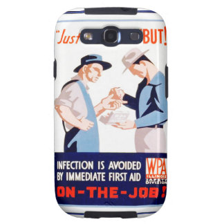 Vintage Safety On the Job First Aid WPA Poster Samsung Galaxy S3 Case