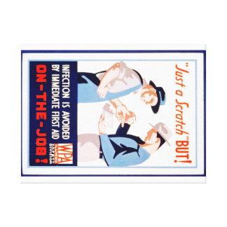 Vintage Safety On the Job WPA Poster Illinois Canvas Print