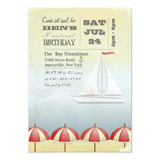 Vintage Sail Boat Invitation