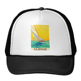Vintage Sail Boats French Travel Trucker Hat