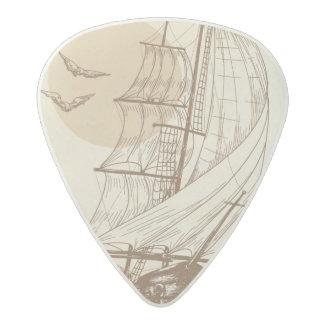 Vintage sailboat acetal guitar pick
