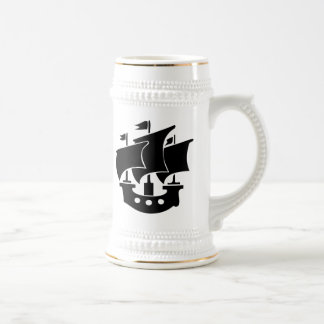 Vintage Sailboat Beer Stein