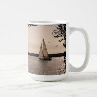 Vintage Sailboat Mug