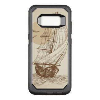 Vintage sailboat OtterBox commuter samsung galaxy s8 case