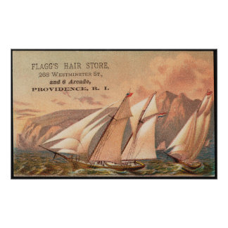 Vintage Sailboats Advertisement Poster